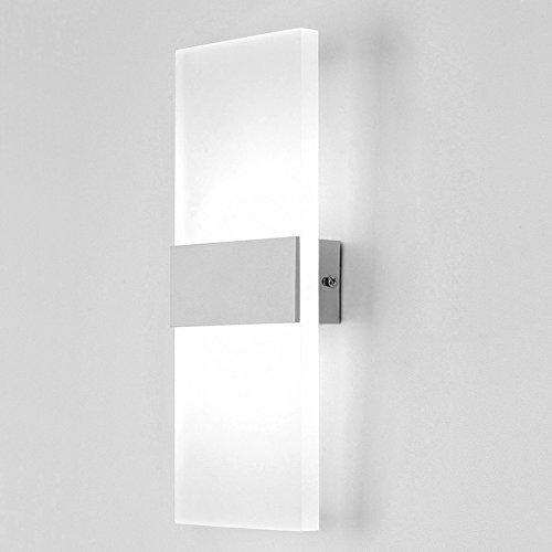 Unimall Apliques de La Pared 6W LED Lámpara de Pared de Bañadores de Pared Focos de Aluminio y Luz Decorativa Empleada en Lugar Interior (Blanco Frío)