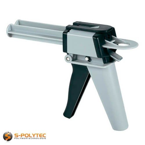 Klebepistole für 2 Komponenten 50ml Kleber-Kartuschen 2 Schieber für Mischverhältnisse 1:1 und 1:10 QUALITÄT MADE IN GERMANY (2K Handpistole)