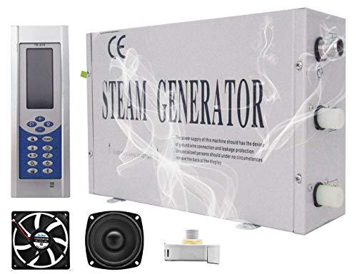 YJINGRUI 3KW Generador de vapor Sauna Ducha Baño Turco Dentro de 4m³ con Controlador Digital de Temperatura y Auto-drenaje para Hogar Gimnasio Hotel 220V