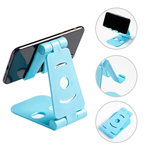 Telefoon Stand, verstelbare draagbare Folding Holder desktop, tablet beugel Smartphone voor Stand Cradle, Compatibel met telefoon en andere Smart Devices,Blue