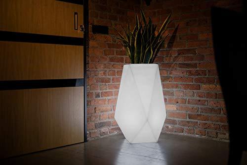 Moderner Blumentopf Volcano mit LED Beleuchtung- Pflanzentopf ideal für Pflanzen im Innen- und Außenbereich – Blumenkübel - Pflanzenkübel XXL – Raumteiler im Haus oder Hochbeet im Garten