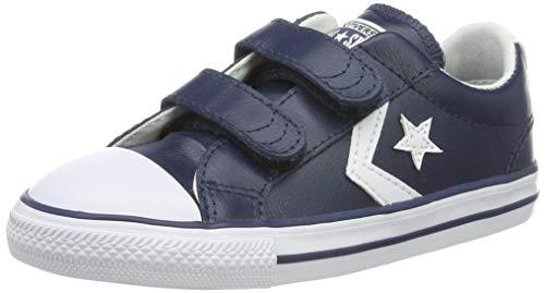Converse Lifestyle Star Plyr 2V Ox, Zapatillas Unisex niño, Azul (Navy/White 412), 25 EU