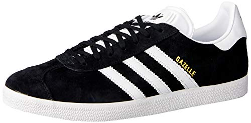 adidas Gazelle, Baskets Homme - Noir (Core Black/White/Gold Metallic) - 44 FR