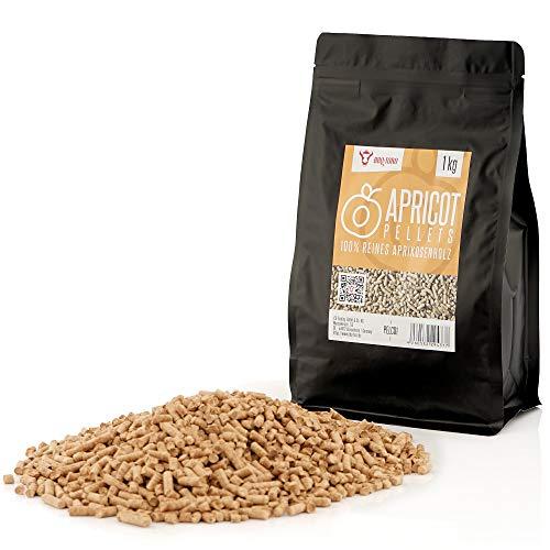 BBQ-Toro Apricot Pellets in Legno di albicocco al 100% | 1 kg | Pellet in albicocco per Grill,...
