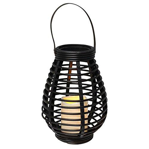 Eaxus® Braune LED Gartenlaterne - flackernde Kerze für Drinnen und Draußen