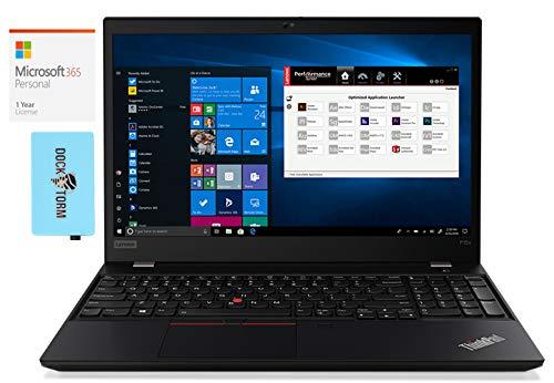 Lenovo ThinkPad P15s Gen1 Home and Business Laptop (Intel i7-10510U 4-Core, 24GB RAM, 1TB PCIe SSD, NVIDIA Quadro P520, 15.6' Full HD (1920x1080), WiFi, Win 10 Pro) with Microsoft 365 Personal, Hub