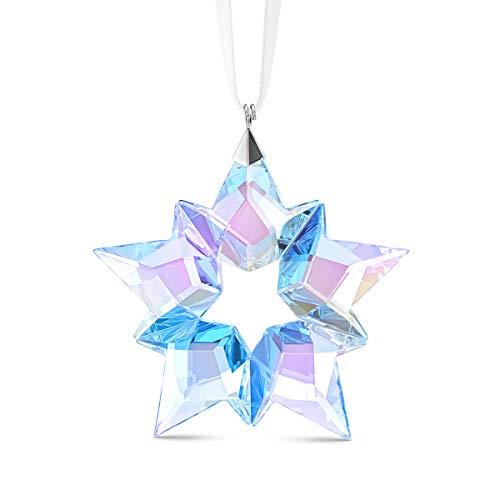 Swarovski Eisstern Ornament, Edler Swarovski Kristall mit Brillant Leuchtendem Farbspiel