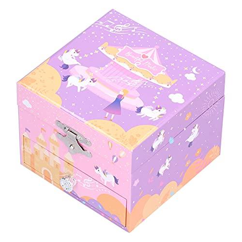 Joyero Musical, Bonito joyero con Forma de Animal para niñas con cajón extraíble de diseño Submarino para decoración de Dormitorio de cumpleaños para niños(#B)