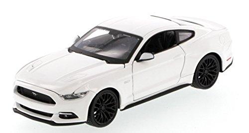 Ford Mustang GT 2015 Modellauto Diecast Metall Maßstab 1:36 Öffnung Türen Detaillierte Interior Pullback Action-Modell von Welly (Weiß)