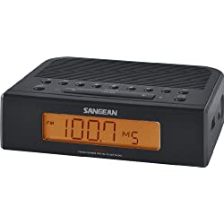 Sangean RCR-5BK Digital AM/FM Clock Radio (Black)