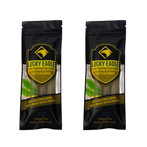 Lucky Eagle Natural Pre Wrap Palm Leafs 6 Rolls (2 Packages) (King)