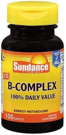 Sundance Vitamins B-Complex 100% Daily Bargain sale Value Each latest 100 3 Count