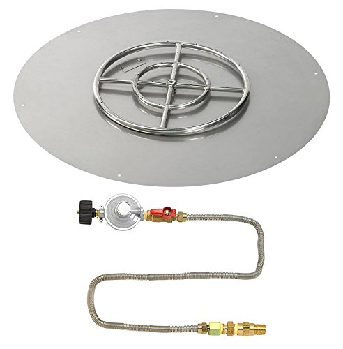 Lowest Prices! American Fireglass Round Stainless Steel Flat Pan with Match Light Kit