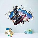 Utopiashi The Avengers 3D-Wandsticker, Dekoration,