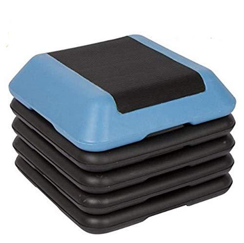 Phil Beauty Fitness Aerobics Step Mädchen Gewichtsverlust Maschine Laden Sie 200 Kg Beseitigen Sie Fett Fett, Verbessern Sie Die Ausdauer, 40x40cm,Blau