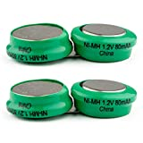 (2-PACK) Exell 2.4-Volt Nickel Metal Hydride Battery, EBHS-TVEARS, Batteries for TV EARS 40810 Fits 5.0 TV EARS Digital Wireless Headsets  ASSEMBLED IN THE USA