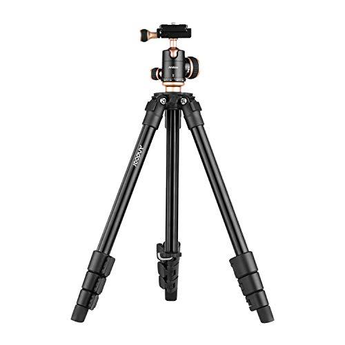 Andoer Trípode Cámara Portátil 126cm Trípodes Completos con Rótula Panorámica Nivel de Burbuja Trípode de Viaje para DSLR Videocámara Mini Proyector Compatible con Canon Nikon Sony