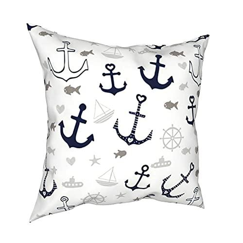 Fundas de almohada decorativas de color blanco, fundas de almohada cuadradas, para habitación, sofá, silla, coche, 50,8 x 50,8 cm