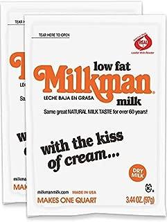 Milkman Instant Low Fat Dry Powdered Milk - 2 Quarts (6.88 Oz) GMO Free