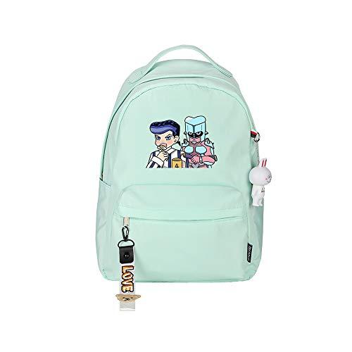 ZZGOO-LL JoJo's Bizarre Adventure Jonathan Joestar Anime Laptop Backpack Bag Travel Laptop Daypacks Bolso Ligero