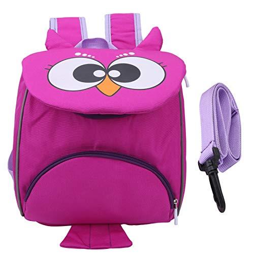 Baby Sicherheitstasche, Oxford Tuch Elegantes Design Coole Bequeme Robuste Kleinkind Schultasche, für 3 bis 6 Jahre alte Baby Reisen(35*27*5cm-Owl Purple)