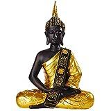 ZYYH Estatua de Buda Entrada Estatua de Buda Decoración Zen Decoración del hogar Tailandia Buda Sentado Artesanía Club de Yoga Decoración Suave Estatua de meditación Zen (Tamaño: M)