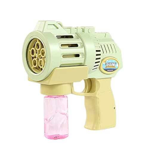 LINANNAN Burbuja Pistolas con una solución de Recambio de Burbujas de Botella para niños, Fabricante de Burbujas,