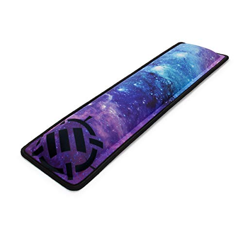 ENHANCE Ergonomic Keyboard Wrist Rest - Keyboard Wrist Pad for Keyboard with Memory Foam Wrist Support and Premium Anti-Fray Stitching - Fits Full Size Keyboards Great for Office Work Home - Galaxy