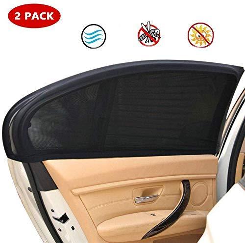 CHUTD Auto Sonnenschutz Auto Seitenfenster Auto Fensterläden für Baby, Auto Sonnenschutz schützt Baby Haustiere vor Blendung und UV-Strahlen, passt für die meisten Autofenster, 2PACK-XLarge