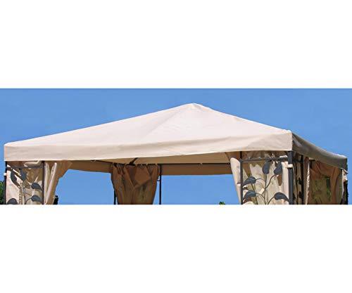 GRASEKAMP Qualität seit 1972 Universal Ersatzdach zu Pavillon 3x3m Sand Blätter Stil