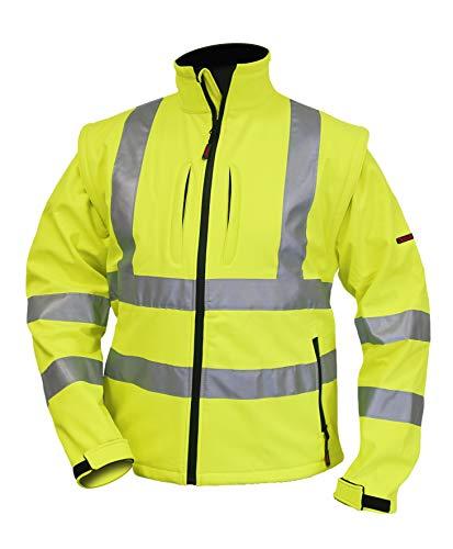 Logista Warnschutz Softshelljacke, Charlie Barato®, fluoreszierend gelb (M)