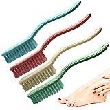 Xjinmin Nagelbürste mit langem Griff, Haushaltsreinigungsbürste für Wäsche, Badezimmer, Küche,...