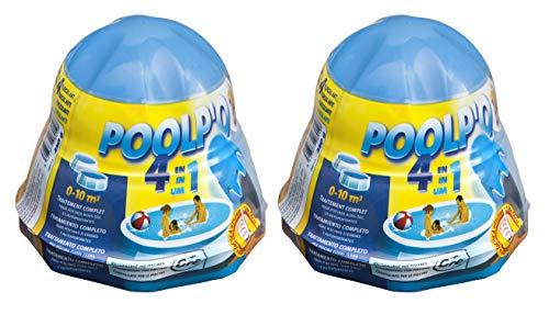 Gre 08012X2 - Pack de dosificador flotante para el mantenimiento del agua de la piscina de 0-10 m3, 2 x 250 gr