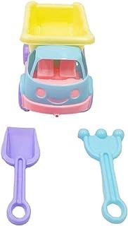 مجموعة ألعاب الشاطئ للأطفال الصغار والأولاد والبنات من كوسيو 3 قطع بلاستيكية تفاعلية لطيفة ملونة صندوق الرمل لعبة مجرفة لع...