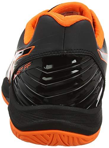 ASICS Herren Blast FF Handballschuhe, Schwarz (Black/Shocking Orange 001), 45 EU - 3