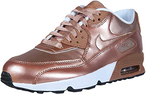 Nike Mens Air Max 90 SE LTR (GS) 859633 900 Metallic Bronze - Size 6Y