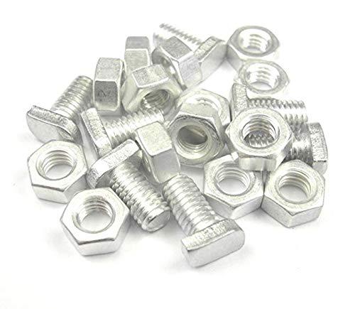 Merriway BH06786 Schrauben und Muttern für Gewächshaus, Aluminium, M6 x 11 mm, silberfarben