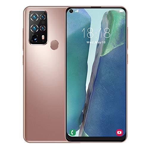 Smartphone Desbloqueado, 12 + 512GB 7.2 '' FHD + Pantalla LCD Android 10 Face ID de Huella Digital 4800Mah Batería Teléfono Celular Cámara cuádruple GPS Bluetooth WiFi Smartphones(I)