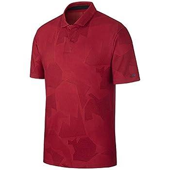 Nike Golf TW Dry Polo Camo Jacquard Gym Red/Black Large