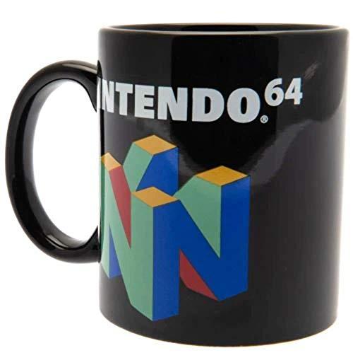 Nintendo Tasse N64 schwarz, bedruckt, aus Keramik.