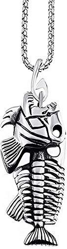 TTDAltd Collar de Acero Inoxidable para Hombre Chai Silver con diseño de bolígrafo Colgante Collar de joyería de 24 Pulgadas