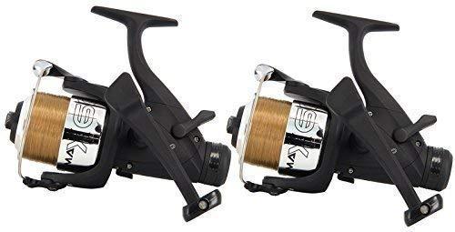 2x Carp Fishing Max 60 2BB Carp Bait Free Runner Reel With 10lb Line New