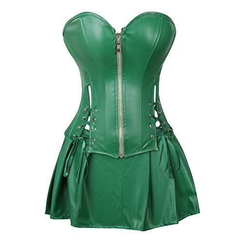 NAQUSHA Vestido de talla grande para mujer, sexy, estilo gótico, con cordones, corsé delgado, vestido de fiesta para mujer