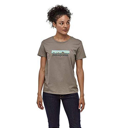 Patagonia Damen W's Pastel P-6 Logo Organic Crew T-Shirt Hemd, Erika-Grau, S