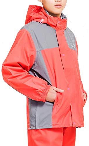 GRYY Outdoor Waterproof Clothing/wasserdichte Anzug Regen Jacke Poncho Regen Seal Männer und Frauen Einzel Raincoat Außen Split Reitanzug (Color : Red, Size : Large)
