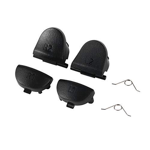 Ashley GAO 6 piezas de repuesto de piezas de repuesto de mandos R1 L1 R2 L2 Gatillos para Dualshock 4 para PS4 Controlador Electrónico Accesorios