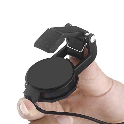 Cherub WCP-60G - Pastilla para guitarra acústica para guitarra acústica, color negro