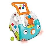 Infantino Minicar Evolutif 3-en-1 - Trotteur lumineux et musical avec poignée réglable pour découvrir les formes et les couleurs - Idéal pour jouer assis, debout et marcher - Convient dès 6 mois