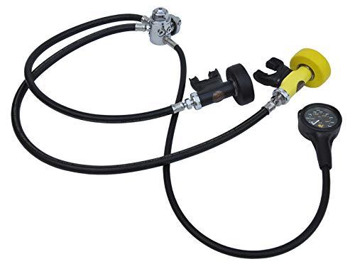 POSEIDON Atemregler Cyklon 5000 Singel Se mit Finimetert, Lungenautomat komplett