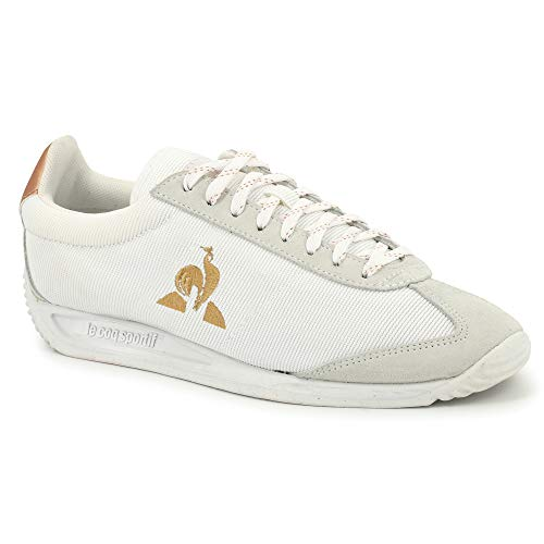 Le Coq Sportif Quartz, Zapatillas Mujer, Optical White/Rose Gold, 38 EU